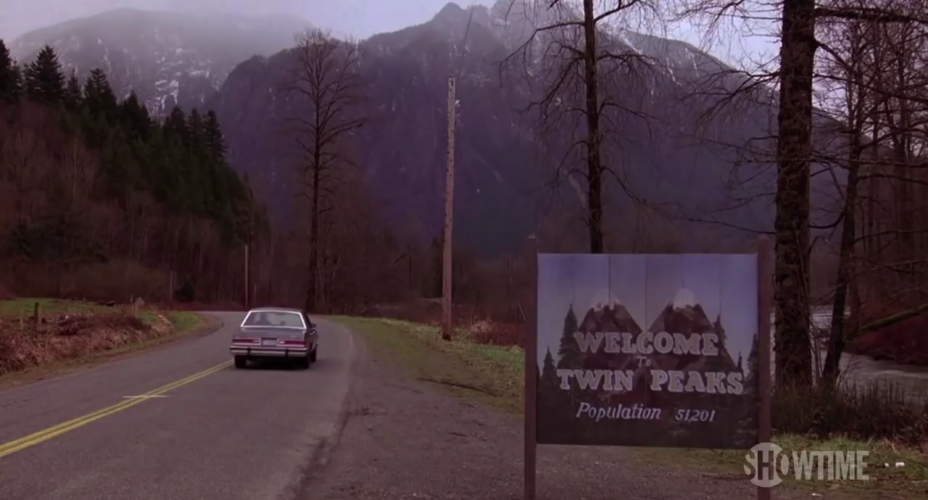 Placa cidade Twin Peaks